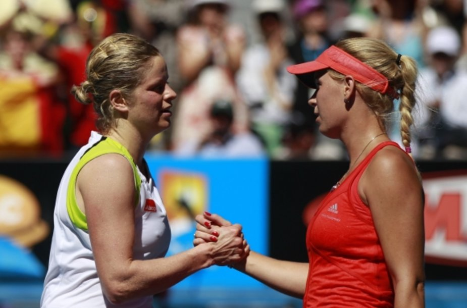 Kim Clijsters ir Caroline Wozniacki
