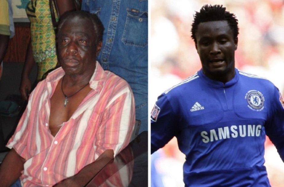 Futbolininko Johno Obi Mikelio tėvą buvo pagrobę 6 asmenys