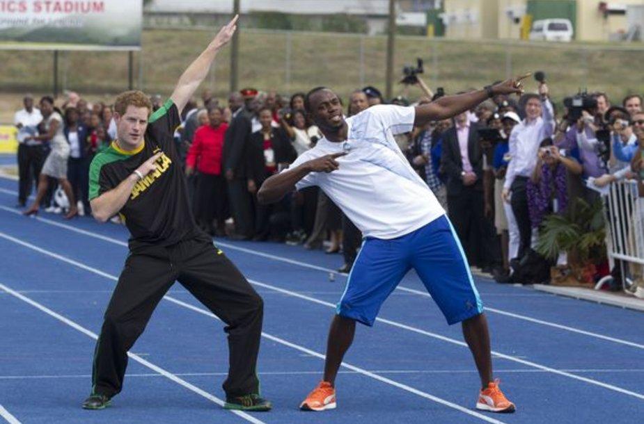Princas Haris ir Usainas Boltas