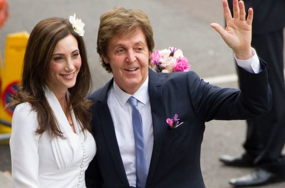 Paulo McCartney vestuvių akimirka