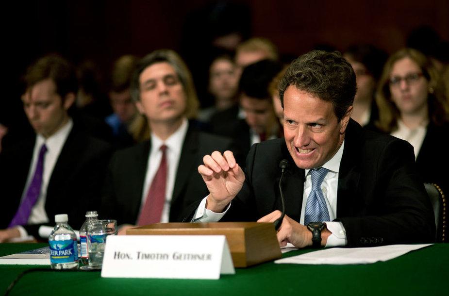 JAV Kongreso posėdis (nuotraukoje – Timothy F. Geithneris)