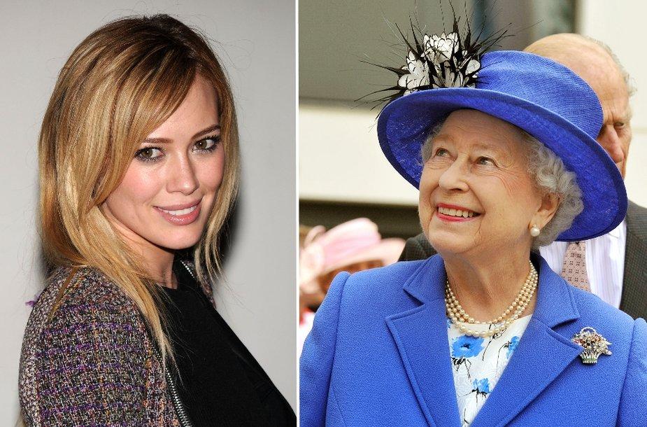 Hilary Duff ir Elizabeth II