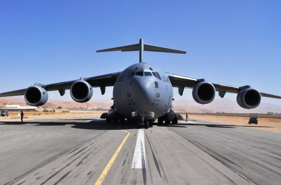 "Čagčarano oro uoste nutūpęs lėktuvas C17 ""Boeing Globemaster III"""