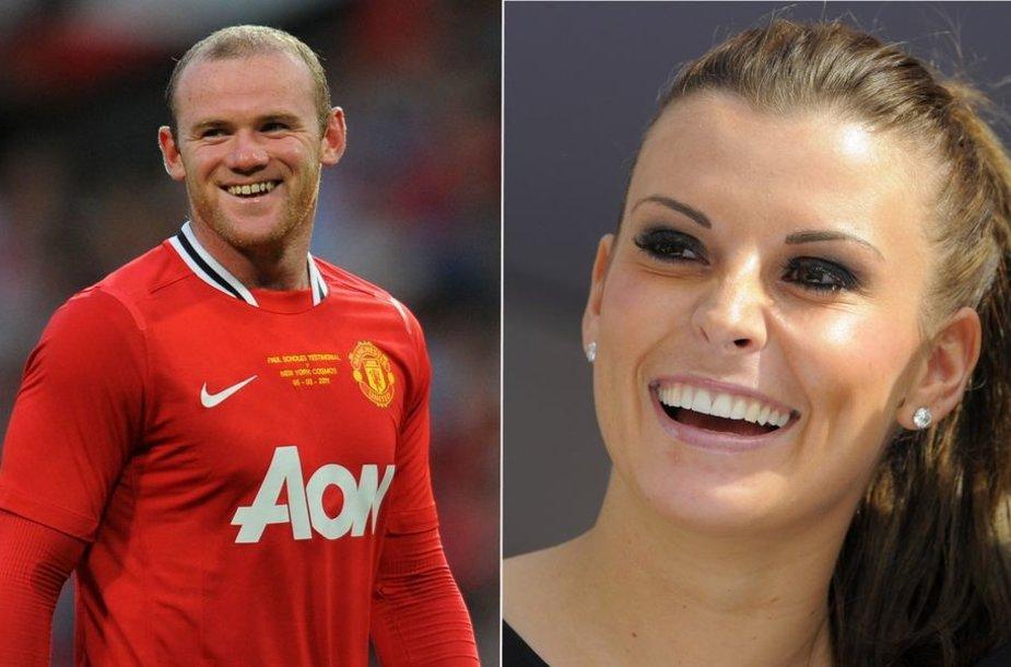 Wayne'as Rooney ir jo žmona Coleen