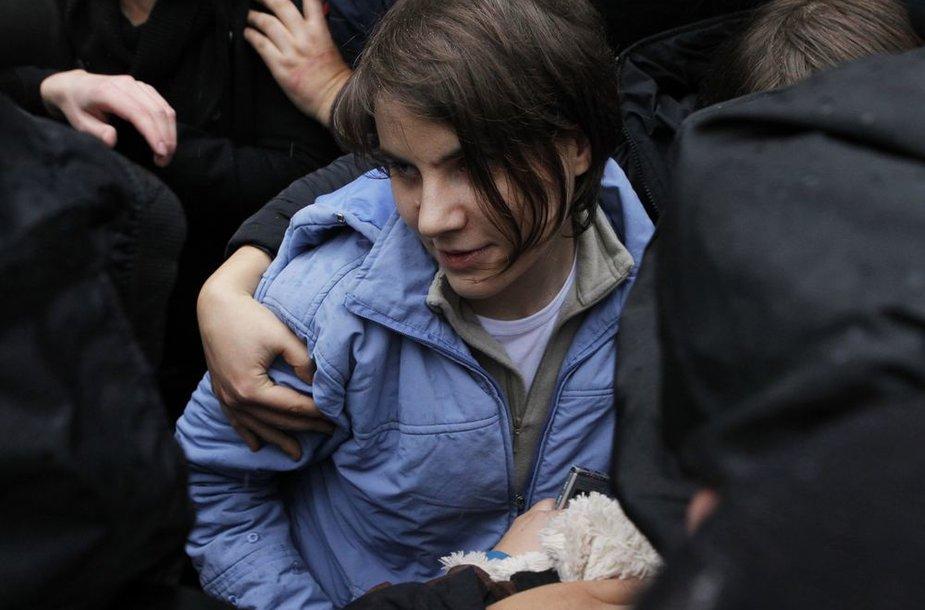 """""""Pussy Riot"""" grupės narė Jakaterina Samucevič"""