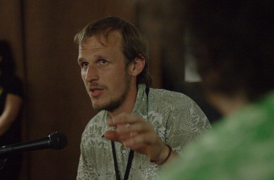 Režisierius Mindaugas Survila pristatyme Australijos BIFF festivalyje