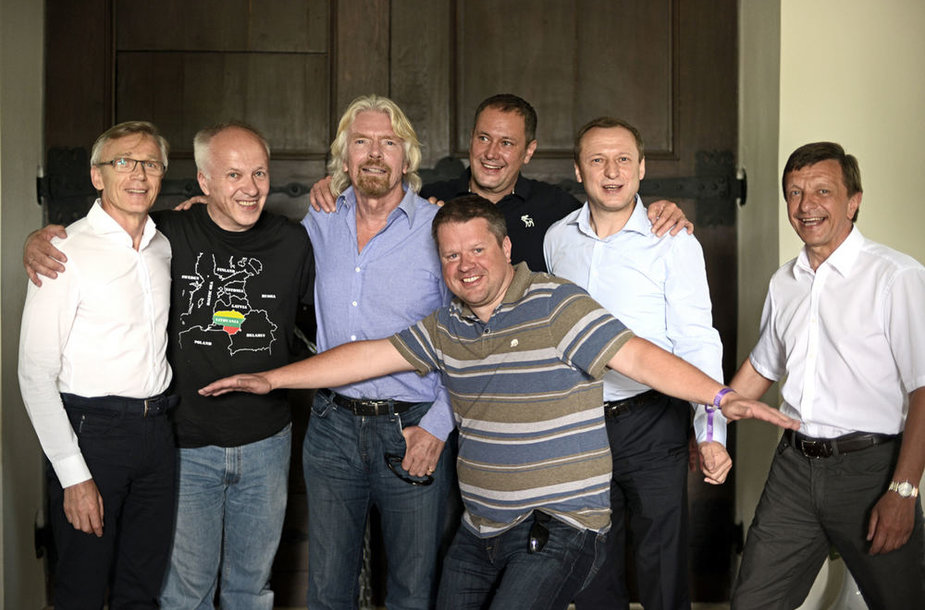Richardas Bransonas lankėsi Pažaislio vienuolyne
