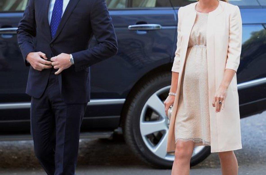 Princas Williamas ir Kembridžo hercogienė Catherine (2013-ųjų birželį)
