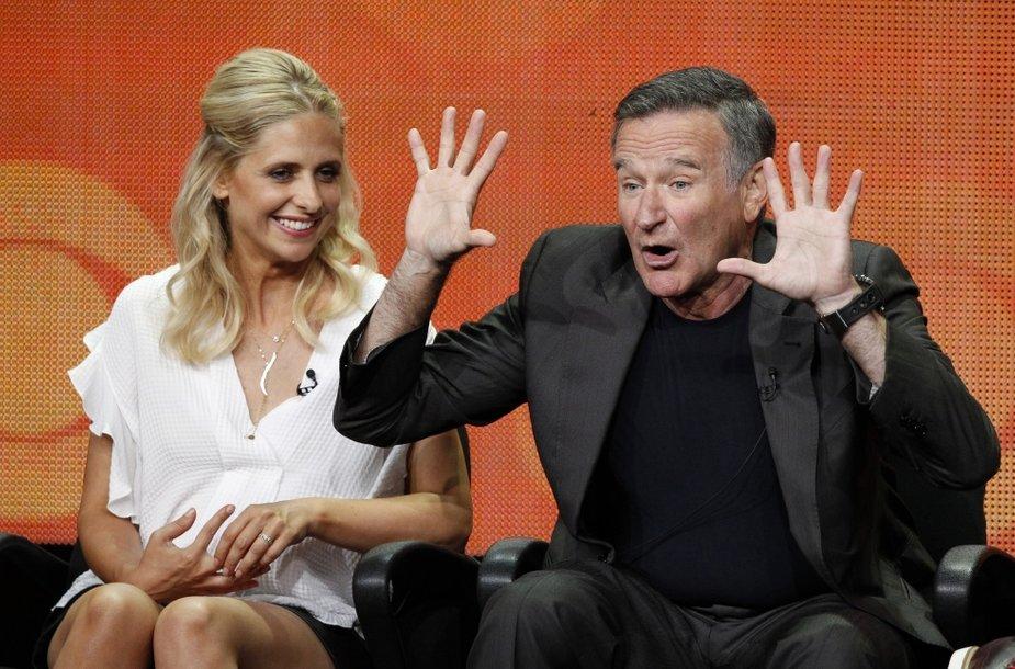Robinas Williamsas ir Sarah Michelle Gellar (2013 m.)