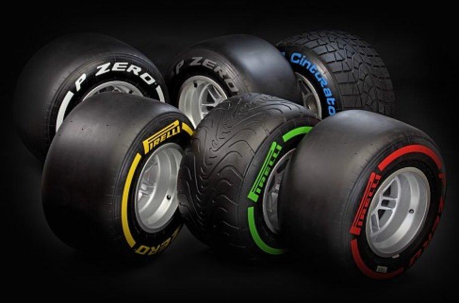 """Pirelli"" F-1 padangos"