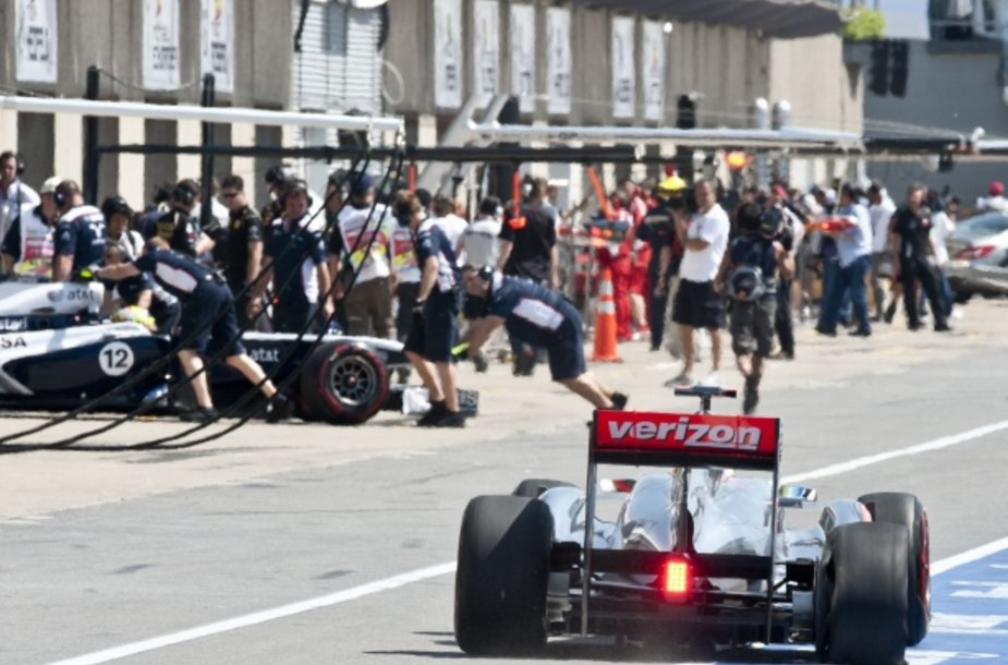 Akimirka iš Kanados GP penktadienio treniruočių