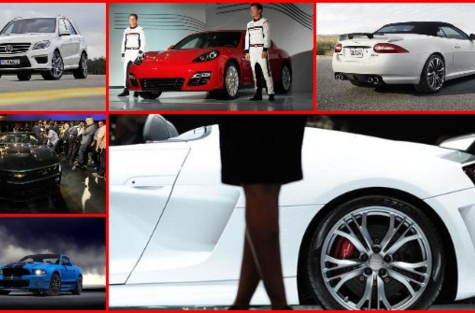 Galingiausi Los Andželo parodos automobiliai