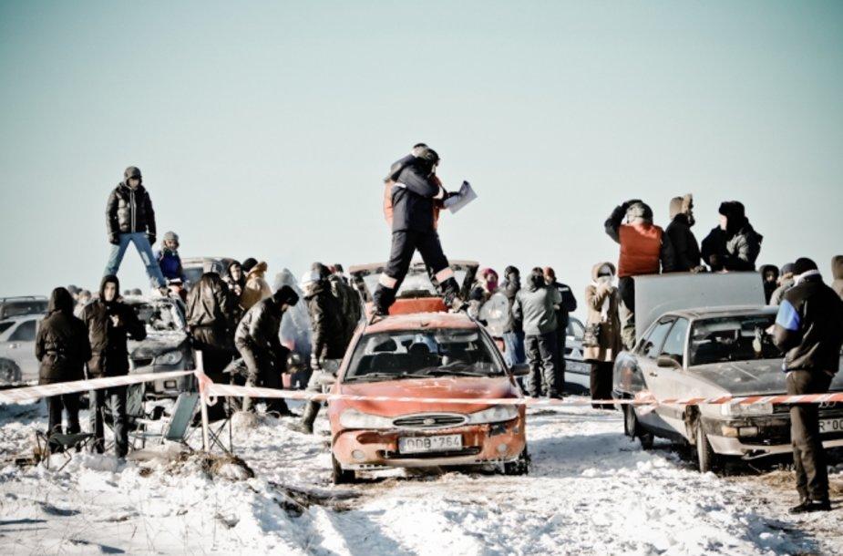 """""""Halls Winter Rally 2012"""" žiūrovai"""