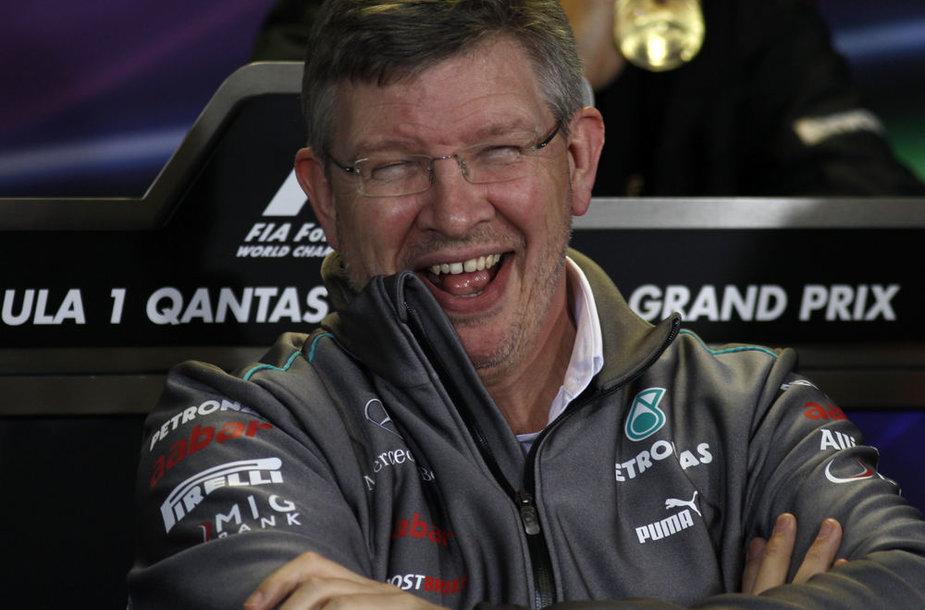 """Rossas Brawnas, """"Mercedes"""" komandos vadovas"""