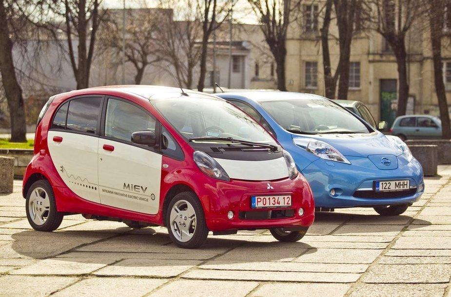 """Nissan Leaf"" ir ""Mitsubishi i-MiEV"""
