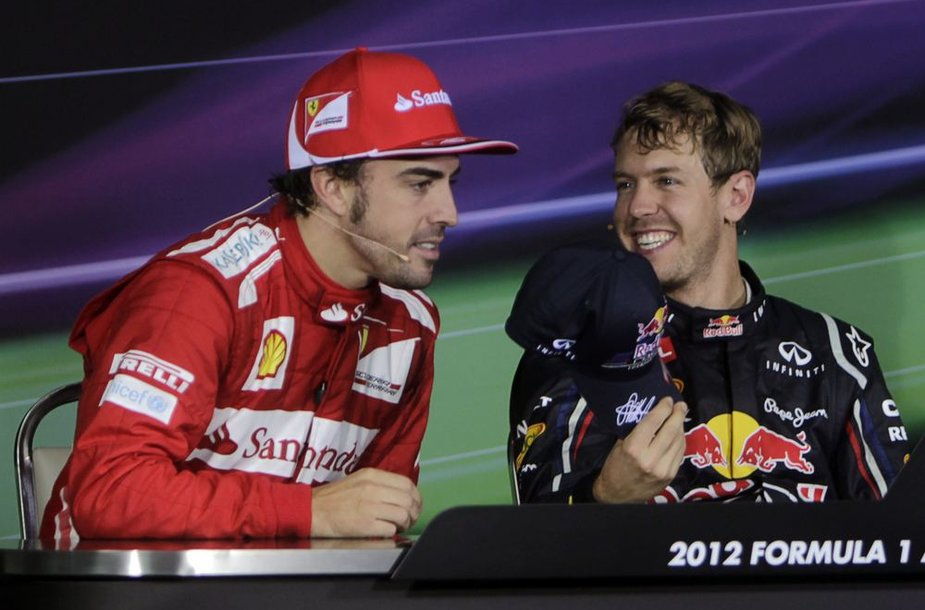 Fernando Alonso ir Sebastianas Vettelis