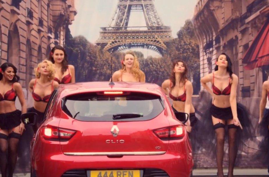 """Renault Clio"" reklamos akimirka"