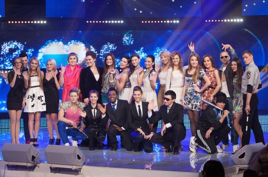 """""""Eurovizijos"""" atrankos dalyviai"""