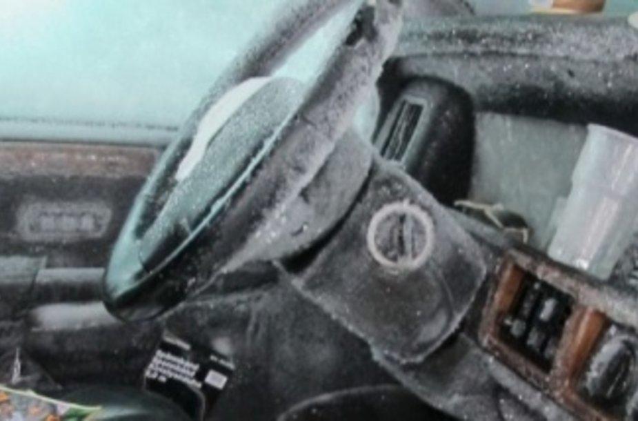 Sniego užverstame automobilyje švedas išgyveno du menėsius