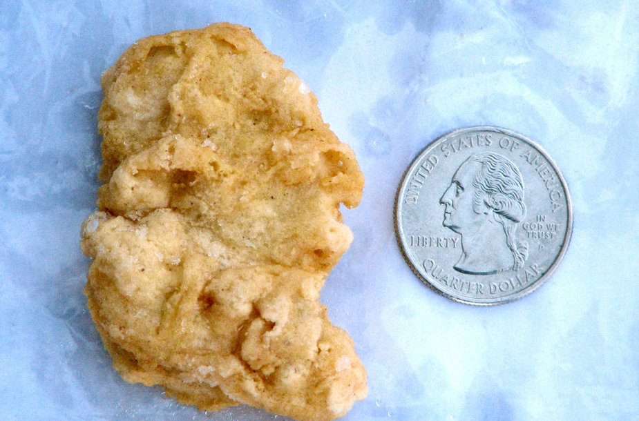 Vištienos gabalėlis, kuris panašus į buvusį JAV prezidentą George'ą Washingtoną