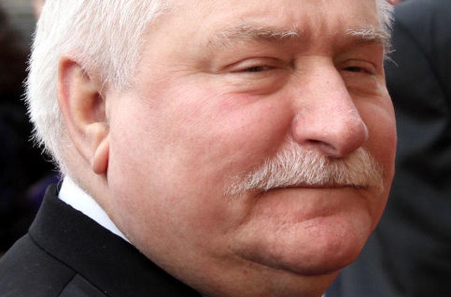 """Lenkijos """"Solidarumo"""" judėjimo lyderis Lechas Walesa"""