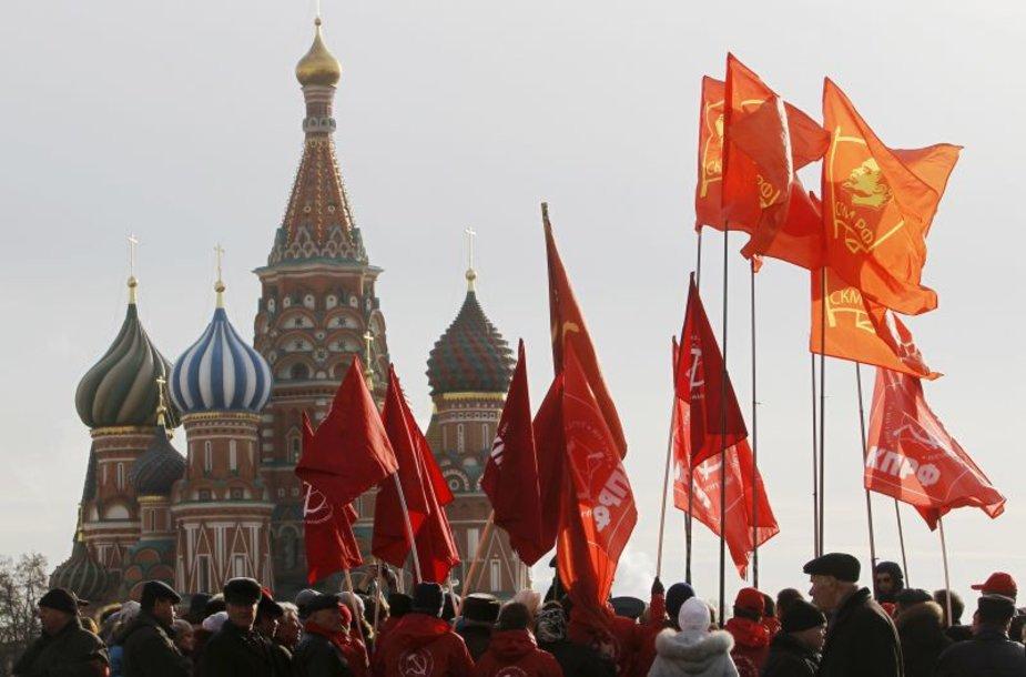 Maskvoje atkartotas 1941 metų karinis paradas Raudonojoje aikštėje