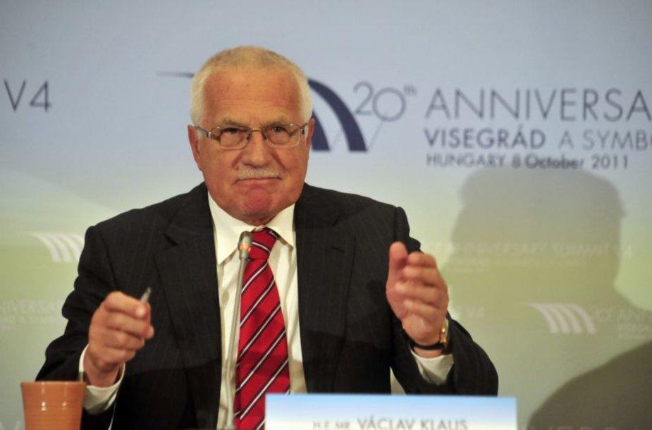Čekijos prezidentas Vaclavas Klausas