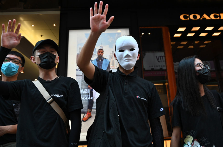 Protestai Honkonge