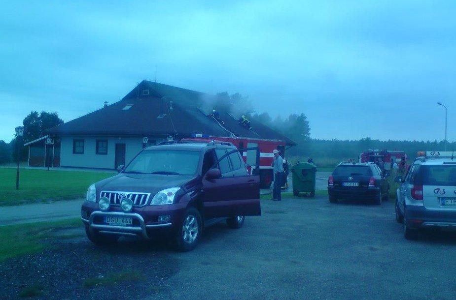Gaisras netoli Ignalinos įsikūrusioje kavinėje