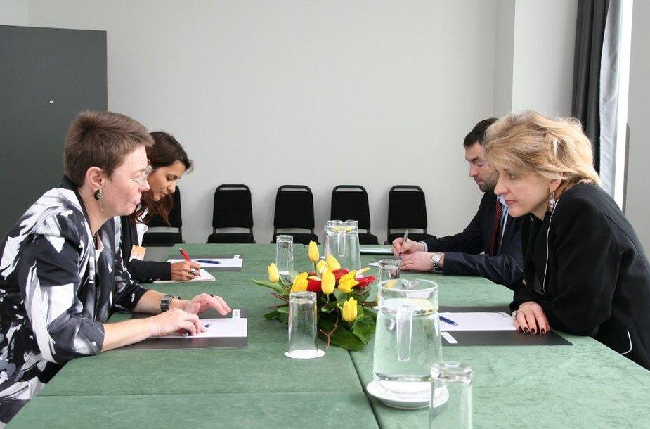 Užsienio reikalų viceministrė susitikime su Europos Sąjungos specialiąja atstove įvertino ES Vidurinės Azijos santykių raidą