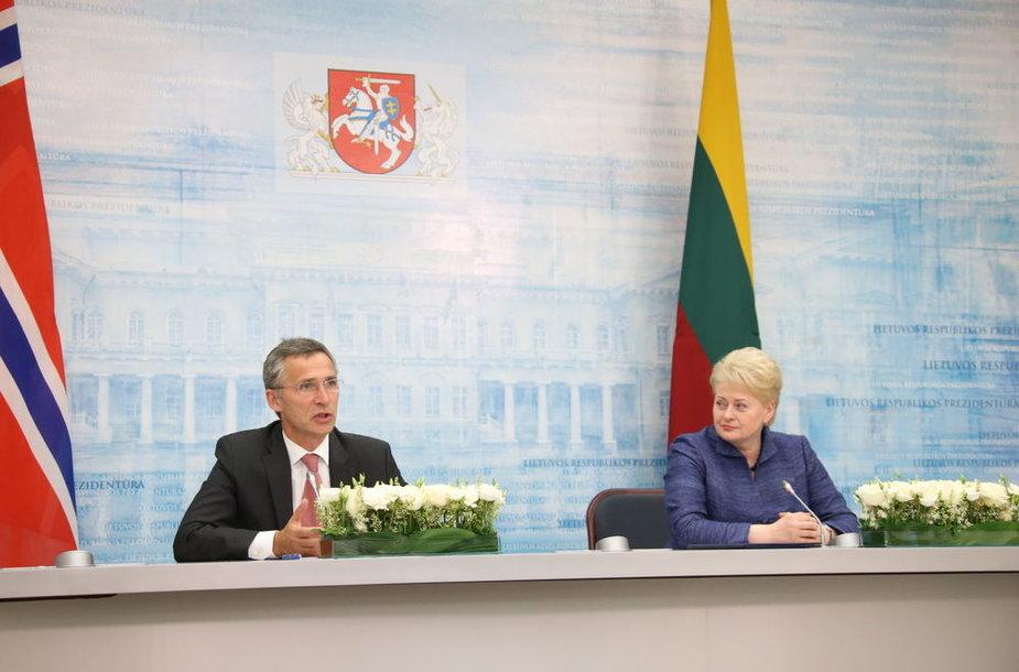 Lietuvos Respublikos Prezidentė Dalia Grybauskaitė susitiko su Norvegijos Ministru Pirmininku Jensu Stoltenbergu.