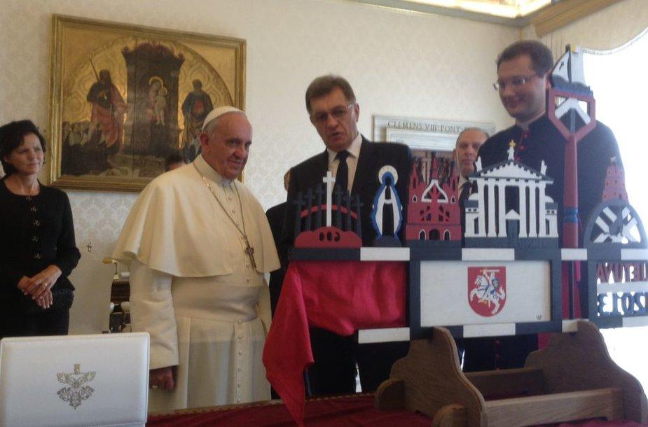Premjeras Algirdas Butkevičius susitiko su Popiežium Pranciškum