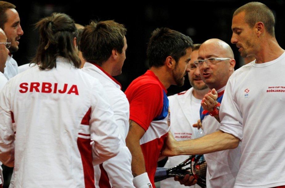 Janko Tipsarevičius ir Serbijos teniso rinktinė