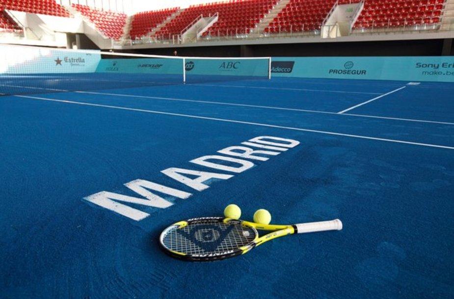 Madrido teniso turnyras pirmą kartą vyks ant mėlyno grunto