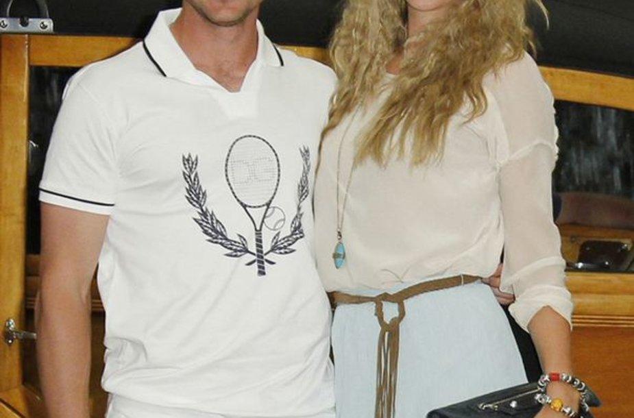 Sergėjus Bubka jaunesnysis ir Viktorija Azareka