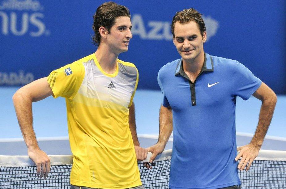 Thomazas Belluccis ir Rogeris Federeris