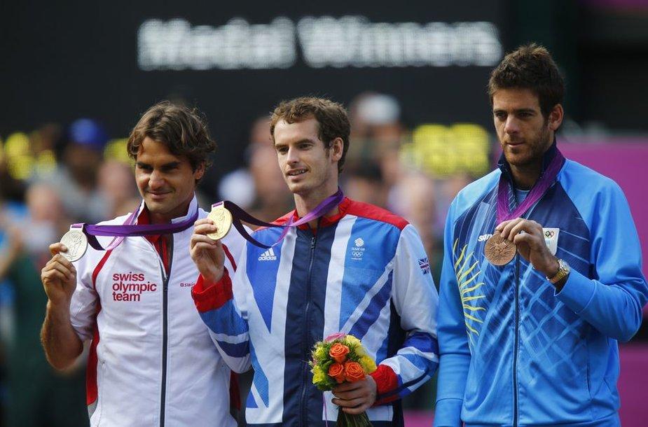 Rogeris Federeris, Andy Murray ir Juanas Martinas del Potro