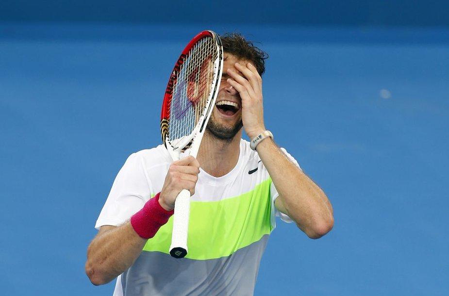 Grigoras Dimitrovas nugalėjo Marcosą Baghdatį ir pirmą kartą žais ATP turnyro finale