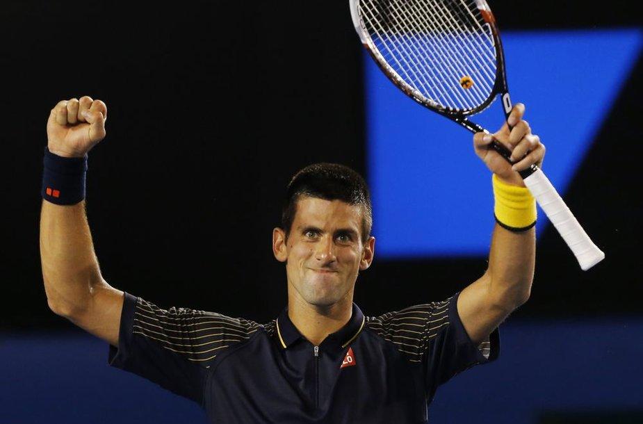 """Novakas Džokovičius """"Australian Open"""" turnyre iškovojo 20-ą pergalę iš eilės"""