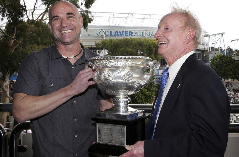 Andre Agassis ir Rodas Laveriss
