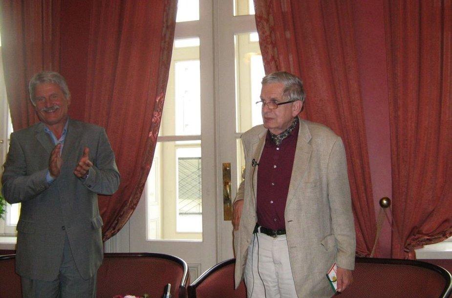 Egidijus Aleksandravičius (k.) ir Tomas Venclova
