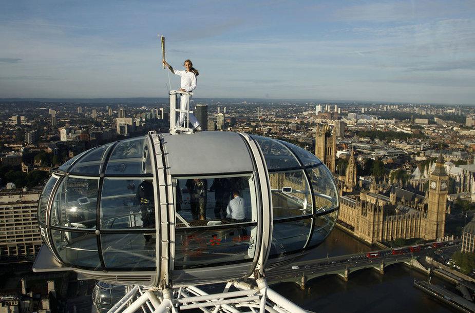 Per Olimpines žaidynes londoniečiai visaip išnaudos savo didįjį apžvalgos ratą