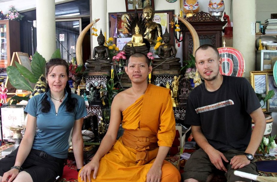 Mus priėmęs ir vaišinęs budistų vienuolis