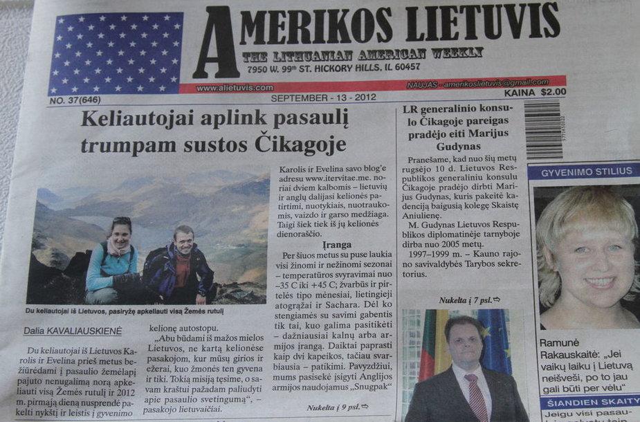 Mums nespėjus nė mirktelt, Amerikos lietuvis jau išspausdina straipsnį