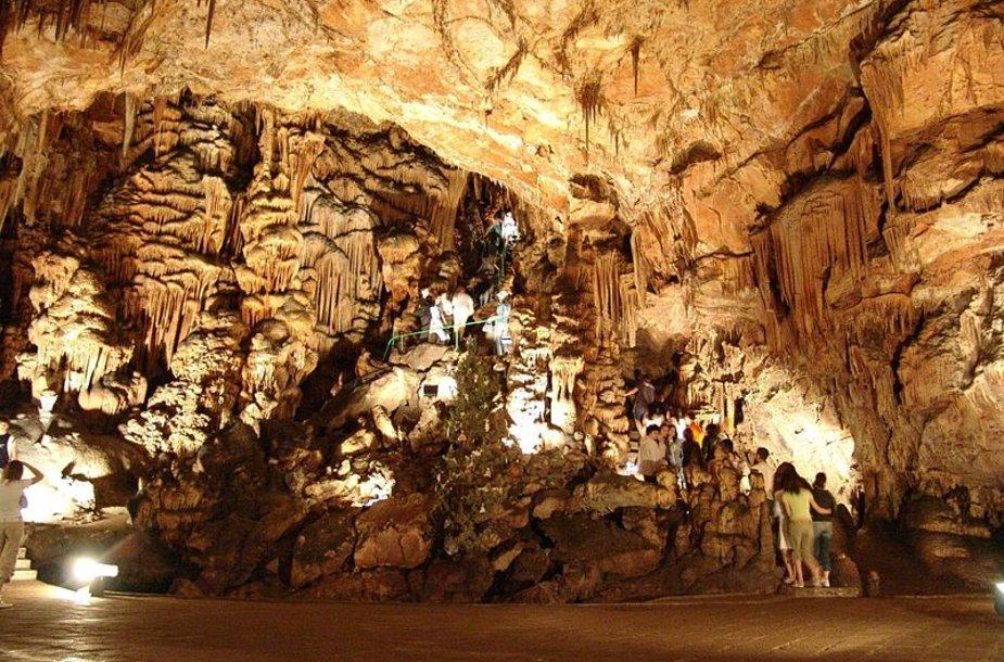 Saevos skylės urve yra vienas didžiausių pasaulio stalaktitų