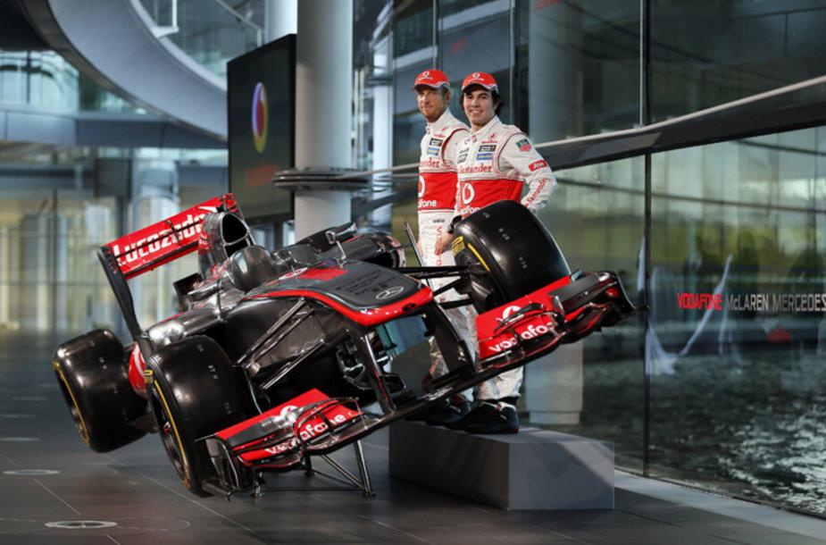 """""""McLaren MP4-28"""" bolido pristatymas"""