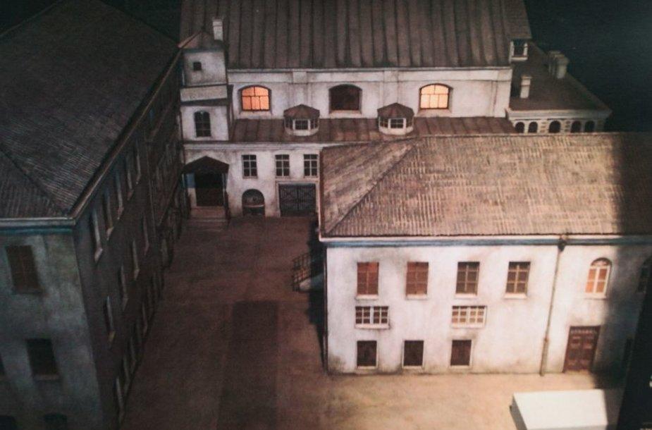 Buvusios Vilniaus Didžiosios sinagogos maketas.