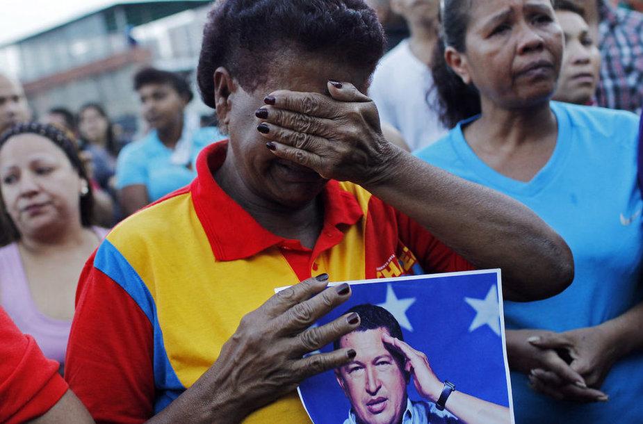Жители Венесуэлы скорбят по Уго Чавесу