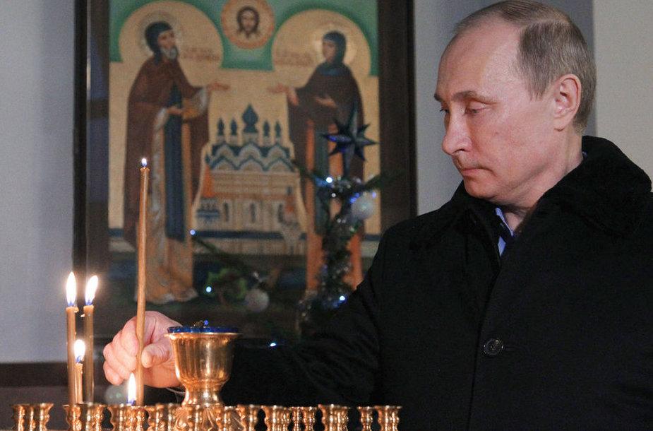Vene president Vladimir Putin jõulumissal Sotši lähistel.