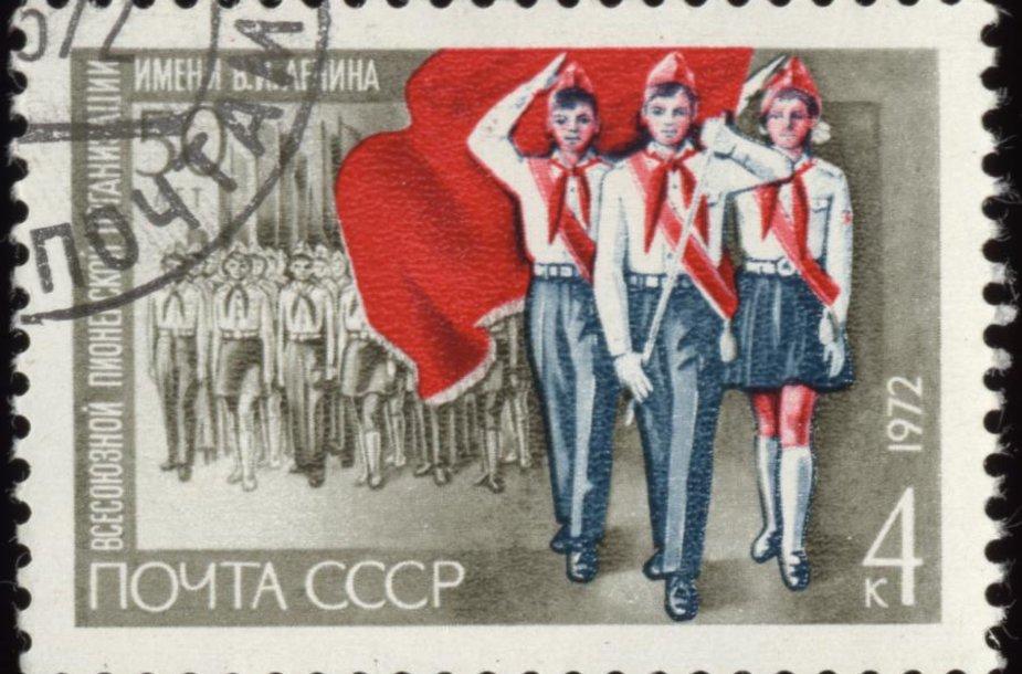 Sovietų pašto ženklas, skirtas pionieriams